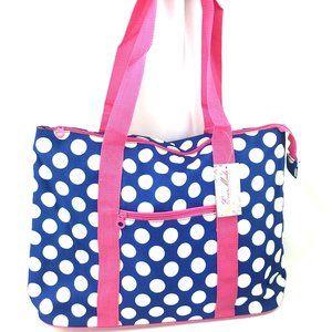Ever Moda Beach or Shopping Polka Dots Tote Bag